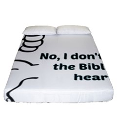 Bible No Fitted Sheet (queen Size) by athenastemple