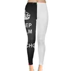 Keepcalmhomeschool Leggings  by athenastemple