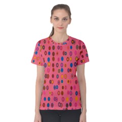 Circles Abstract Circle Colors Women s Cotton Tee