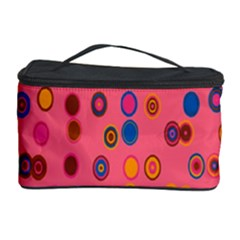 Circles Abstract Circle Colors Cosmetic Storage Case by Nexatart