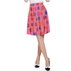 Circles Abstract Circle Colors A Line Skirt