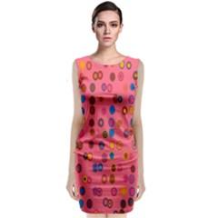 Circles Abstract Circle Colors Classic Sleeveless Midi Dress