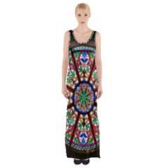 Church Window Window Rosette Maxi Thigh Split Dress by Nexatart