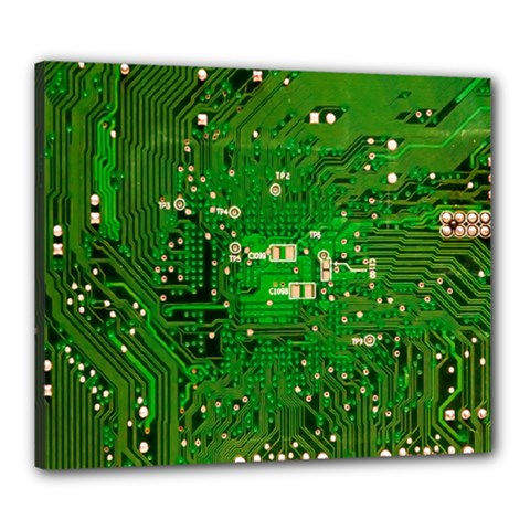 Circuit Board Canvas 24  X 20