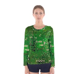 Circuit Board Women s Long Sleeve Tee