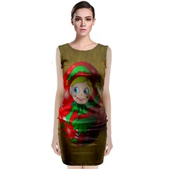 Christmas Wreath Ball Decoration Classic Sleeveless Midi Dress