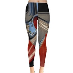 Classic Car Design Vintage Restored Leggings  by Nexatart