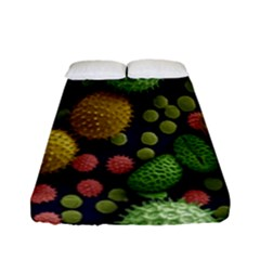 Colorized Pollen Macro View Fitted Sheet (full/ Double Size) by Nexatart