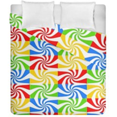 Colorful Abstract Creative Duvet Cover Double Side (california King Size) by Nexatart