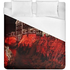 Clifton Mill Christmas Lights Duvet Cover (king Size) by Nexatart