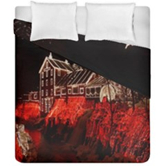 Clifton Mill Christmas Lights Duvet Cover Double Side (california King Size) by Nexatart