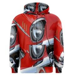 Classic Car Red Automobiles Men s Zipper Hoodie by Nexatart