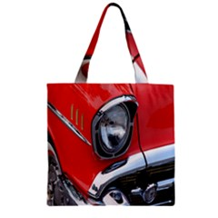 Classic Car Red Automobiles Zipper Grocery Tote Bag