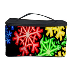 Colourful Snowflake Wallpaper Pattern Cosmetic Storage Case by Nexatart
