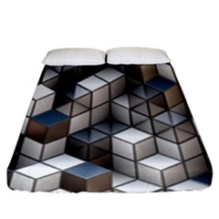 Cube Design Background Modern Fitted Sheet (king Size) by Nexatart