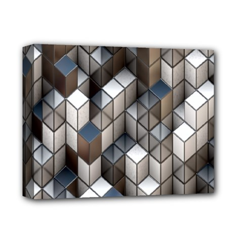 Cube Design Background Modern Deluxe Canvas 14  X 11