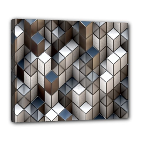 Cube Design Background Modern Deluxe Canvas 24  X 20