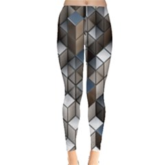 Cube Design Background Modern Leggings  by Nexatart