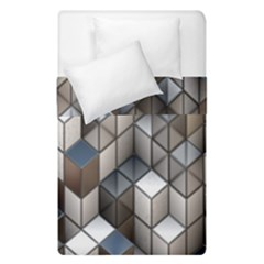 Cube Design Background Modern Duvet Cover Double Side (single Size) by Nexatart