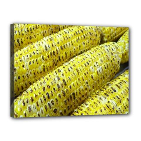 Corn Grilled Corn Cob Maize Cob Canvas 16  X 12