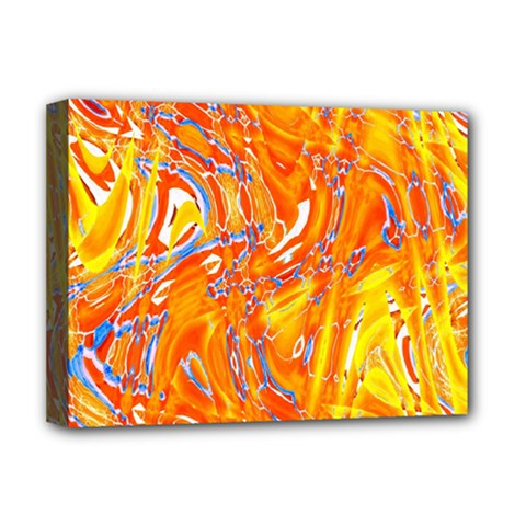 Crazy Patterns In Yellow Deluxe Canvas 16  X 12   by Nexatart