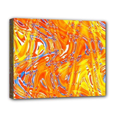 Crazy Patterns In Yellow Deluxe Canvas 20  X 16