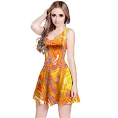 Crazy Patterns In Yellow Reversible Sleeveless Dress