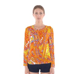 Crazy Patterns In Yellow Women s Long Sleeve Tee