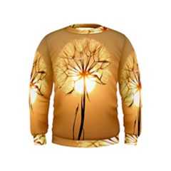 Dandelion Sun Dew Water Plants Kids  Sweatshirt