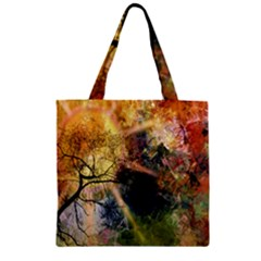 Decoration Decorative Art Artwork Zipper Grocery Tote Bag