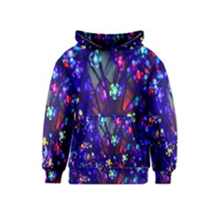 Decorative Flower Shaped Led Lights Kids  Pullover Hoodie