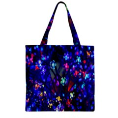Decorative Flower Shaped Led Lights Zipper Grocery Tote Bag