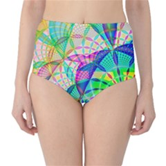 Design Background Concept Fractal High Waist Bikini Bottoms