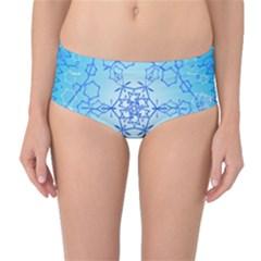 Design Winter Snowflake Decoration Mid Waist Bikini Bottoms by Nexatart