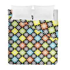 Diamonds Argyle Pattern Duvet Cover Double Side (full/ Double Size) by Nexatart