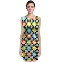 Diamonds Argyle Pattern Classic Sleeveless Midi Dress