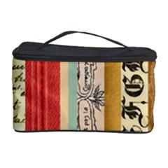 Digitally Created Collage Pattern Made Up Of Patterned Stripes Cosmetic Storage Case