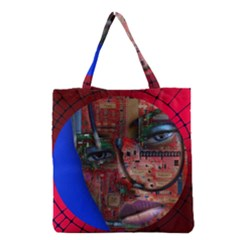 Display Dummy Binary Board Digital Grocery Tote Bag by Nexatart