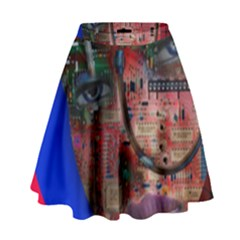 Display Dummy Binary Board Digital High Waist Skirt by Nexatart