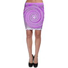 Digital Purple Party Pattern Bodycon Skirt