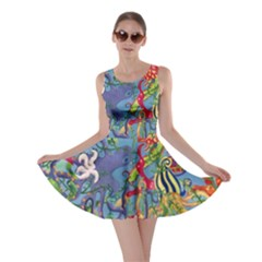Dubai Abstract Art Skater Dress