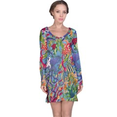 Dubai Abstract Art Long Sleeve Nightdress