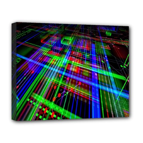 Electronics Board Computer Trace Deluxe Canvas 20  X 16