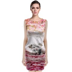 Elephant Heart Plush Vertical Toy Classic Sleeveless Midi Dress
