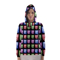 Email At Internet Computer Web Hooded Wind Breaker (women) by Nexatart