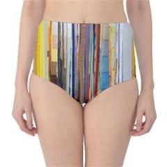 Fabric High Waist Bikini Bottoms by Nexatart