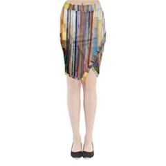 Fabric Midi Wrap Pencil Skirt by Nexatart