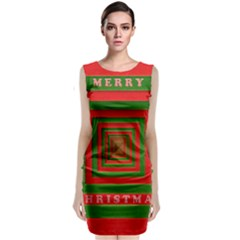 Fabric 3d Merry Christmas Classic Sleeveless Midi Dress