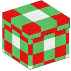 Fabric Christmas Colors Bright Storage Stool 12   by Nexatart
