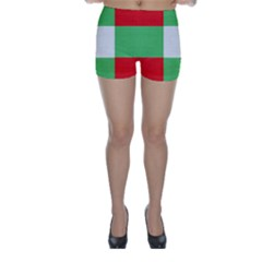 Fabric Christmas Colors Bright Skinny Shorts